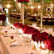 Red Rose Decorations Weddings