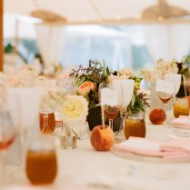 Sharia's Blog Elegant Real Wedding Outdoor Reception Under Tent