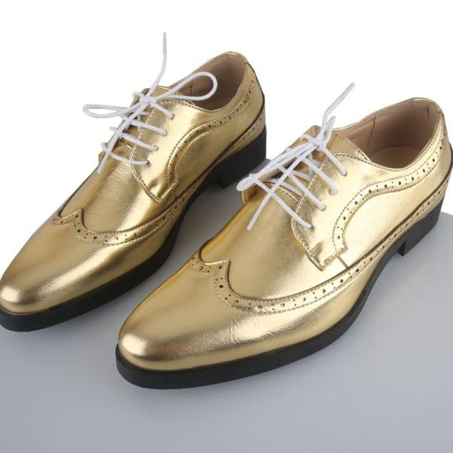 Shine Lace Men's Wedding Shoes Leather Shoes Fast Shipping Colour