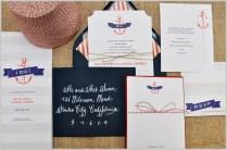 Sneak Peek Nautical Themed Wedding Invitations