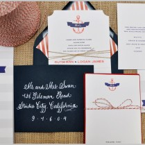 Sneak Peek Nautical Themed Wedding Invitations