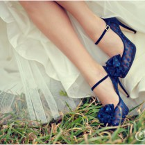 Something Blue Shoes For Wedding