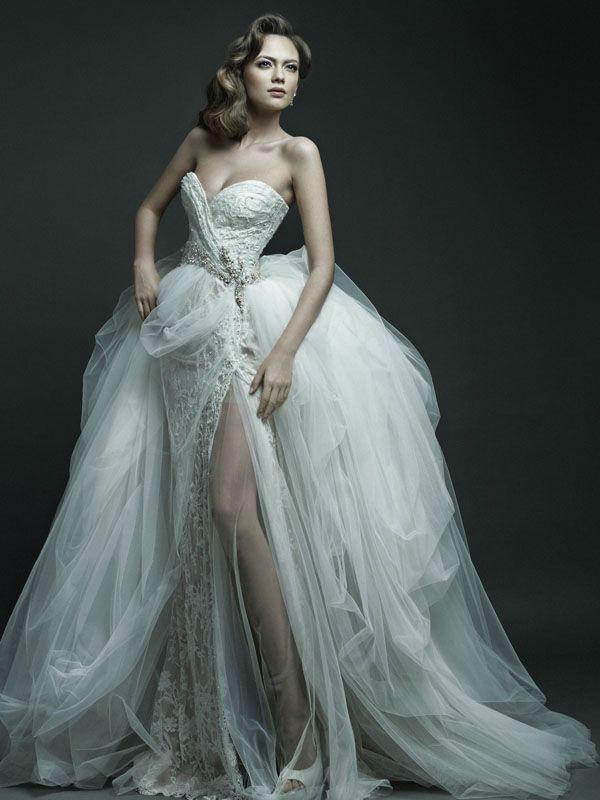 Striking Wedding Dresses With Slit