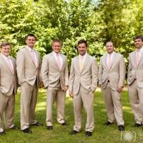 Tan Tuxedo Wedding