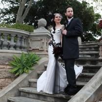 Tanya & Ross' Elegant Victorian Gothic Wedding