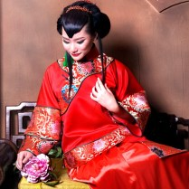 Traditional Chinese Wedding Dress Suits Red