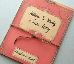 Vintage Story Book Wedding Invitation Set Of Ten Library Books