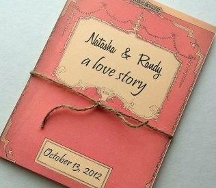 Vintage Story Book Wedding Invitation Set Of Ten Library Books