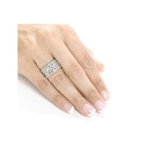 Vintage Wedding Ring Anniversary Band For Her In White Gold