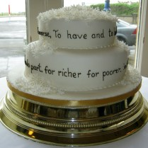 Vow Renewal Cake Ideas