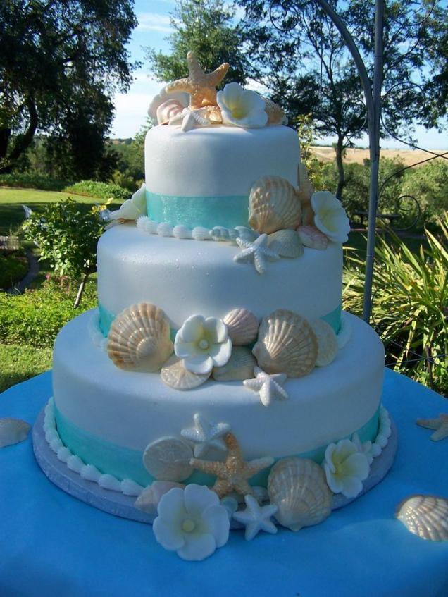 Wedding Cakes With Beach Theme