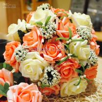Wedding Centerpieces With Artificial Orange And White