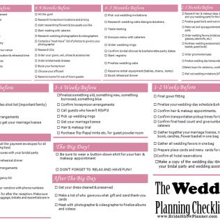 Wedding Checklist And Timeline – Allen