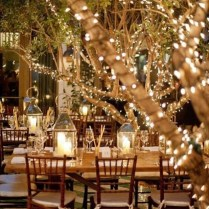Wedding Decor Glamorous Evening Wedding Outdoor Evening Wedding