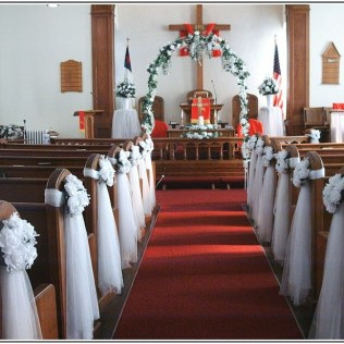 Wedding Decorations For Church Chairs