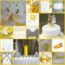 Wedding Ideas Yellow And Gray