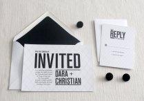 Wedding Invitations For Modern Weddings Etsy Wedding Finds Coral Black