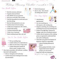 Wedding Planner Checklist Months Of Month Wedding Planner