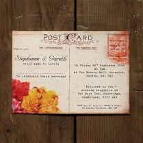 Wedding Postcard Invitations Fabulous Of Rustic Wedding