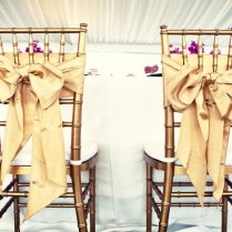 Wedding Reception Bride Groom Chairs Gold Bows