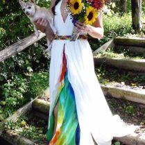 Wedding Shoes, Rainbow Tie