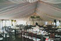 Wedding Tent Lighting Featuring Market Lights & Amber Wash Lights