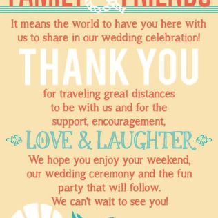 Wedding Welcome Bag Wording