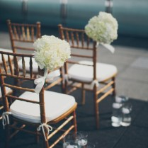 White Flower Bouquets Ceremony Chair Decor