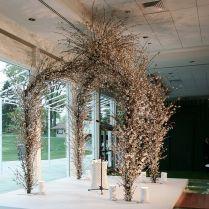 Wild Flowering Branch Wedding Arch Or Chuppah For An Organic
