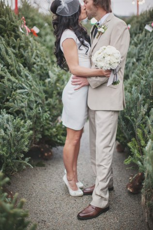 Winter Courthouse Wedding Dress