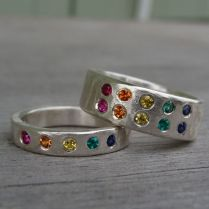 17 Best Images About Rainbow Wedding Rings On Emasscraft Org