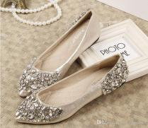 2015 Rhinestones Wedding Shoes Bridal Shoes With Bling Sequins