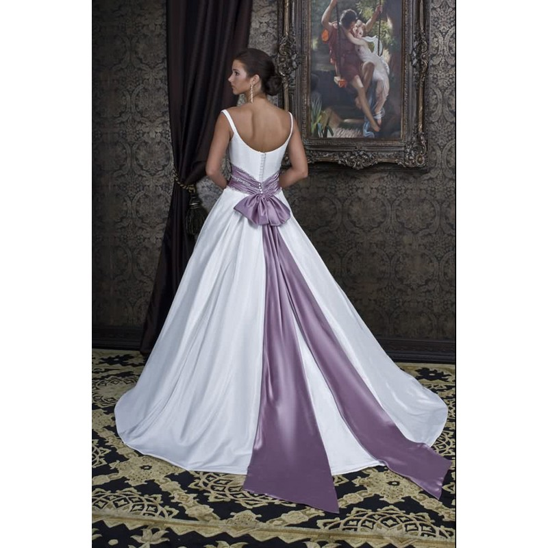 Purple Wedding Dresses with Color Accents