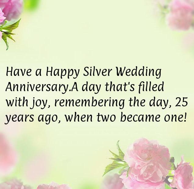 25th Wedding Anniversary Gift Silver Wedding Anniversary Happy