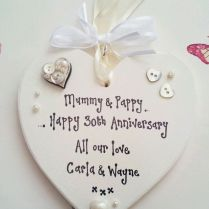 30th Wedding Anniversary Pearl Present Mum Dad Gift Keepsake