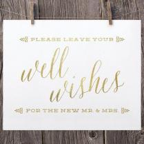 5x7 Printable Wedding Signs, Guest Book Sign, Wedding Well Wishes