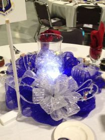 Af Ball Centerpiece Deco Mesh Wreath
