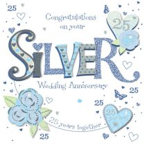 Anniversary 25th Wedding Anniversary Greeting Cards