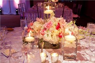 Awesome Wedding Centerpieces Candles And Flowers Flower Wedding