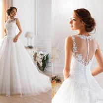 Backless Wedding Gowns Princess Ball Gown Wedding Dresses, $12498