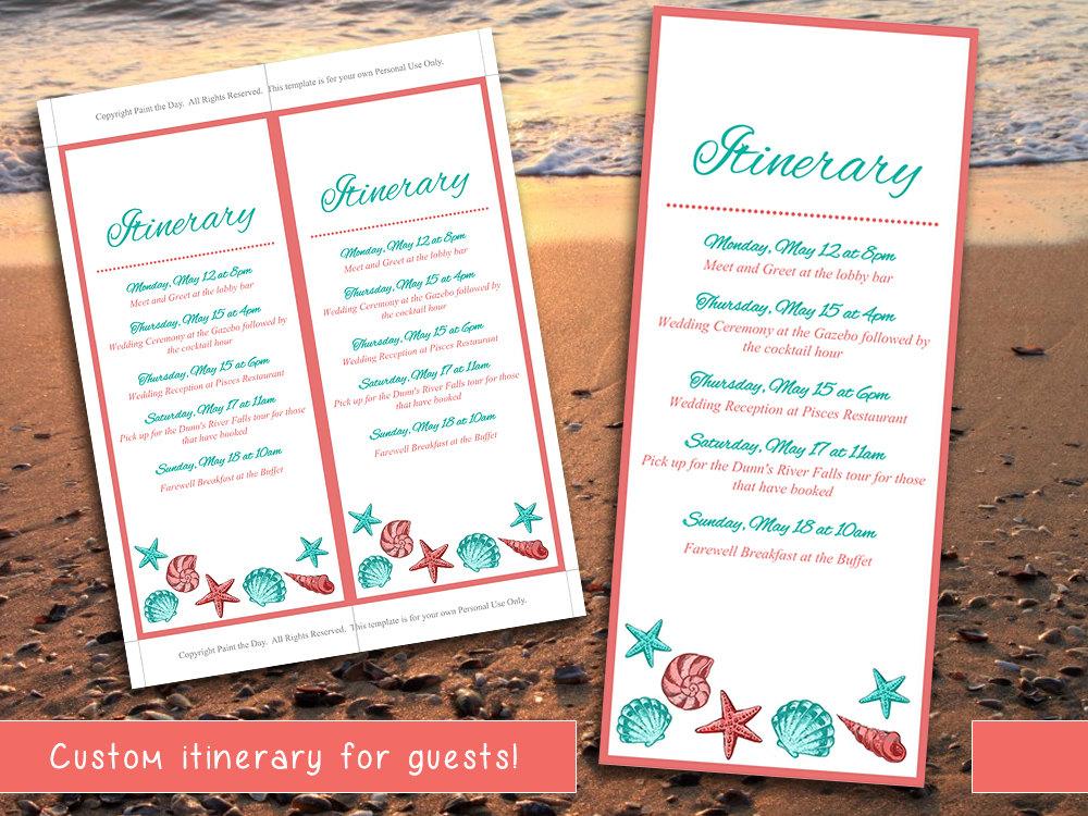 destination wedding itinerary templates Destination Wedding Itinerary Template