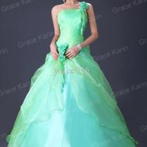 Beautiful Green Rose Strapless Ball Gown Prom Bridal Wedding Dress