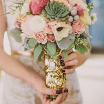 Beautiful Succulent Wedding Bouquets