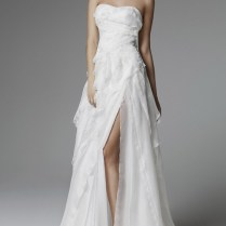 Blumarine Wedding Dresses 2013 Strapless Gown Thigh High Slit