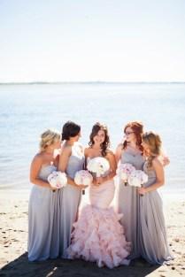 Blush And Gray Whimsical Wedding