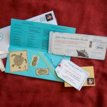 Boarding Pass Invitations For A Cruise Wedding