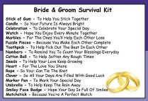 Bride & Groom Survival Kit In A Can Humorous Novelty Gift
