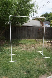 Build Your Own Pvc Backdrop For The Ceremony! Use It For Your