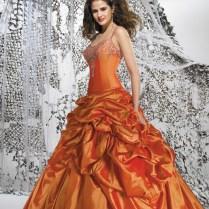 Burnt Orange Wedding Dress
