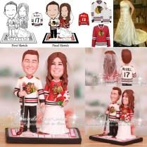 Chicago Blackhawks Cake Topper